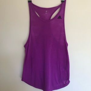 Adidas workout tank top size small